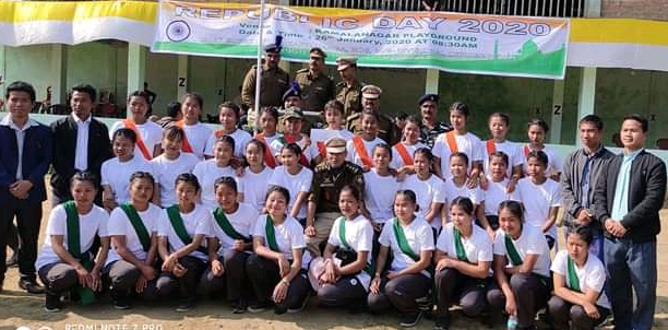Participants from those under Pre-Militiary Coaching being iniated jointly by CRPF 225 battalion Kamalanagar and Central Mizoram Chakma Student Students Union.