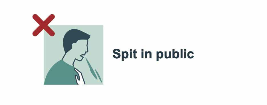 Don't spit in public